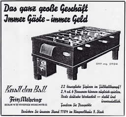 Die Geschichte des Tischfussballs
